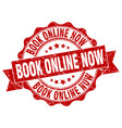 book online now stamp sign seal vector image vector image