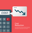 business finance crisis concept cost reduction vector image