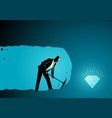 businessman digging and mining to find treasure vector image vector image