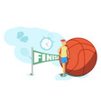 cartoon basketball player athlete person game vector image