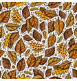 cartoon cute hand drawn autumn seamless pattern vector image