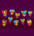 cartoon kids color numbers set vector image
