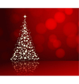 christmas background red 2311 01 vector image vector image
