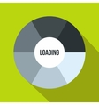 Circle loading icon flat style vector image vector image