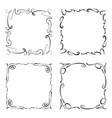 collection of frames rectangles for image vector image vector image