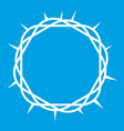 crown of thorns icon white vector image vector image