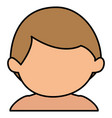 Cute boy shirtless avatar character