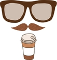 Cute cartoon doodle coffee cup vector image vector image