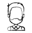 cute grandfather avatar character vector image vector image