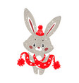 cute personage - bunny vector image vector image