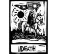 Death Tarot vector image vector image