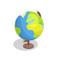 earth globe model isolated vector image vector image