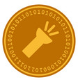 electric torch light digital coin vector image vector image
