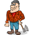 fairy tale lumberjack cartoon vector image vector image