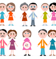 family members set isolated on white background vector image vector image