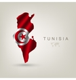 flag tunisia as a country vector image