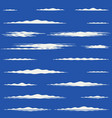 flat design lengthwise cirrus clouds vector image
