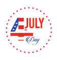 fourth of july stars circle frame background vector image
