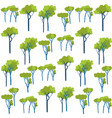 garden green trees vegetation seamless pattern vector image vector image