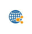 globe share logo icon design vector image vector image