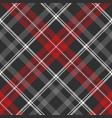 gray plaid fabric texture seamless pattern vector image