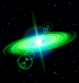 Green galaxy vector image vector image