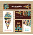 Hand drawn aztec style feathers Tribal design vector image