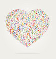 heart shape music color vector image vector image