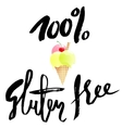Ice cream cartoon with gluten free lettering vector image