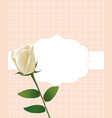 invitation card with white rose vector image vector image