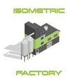 isometric modern factory vector image vector image
