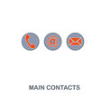 main contacts icon premium two colors style vector image