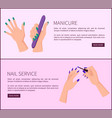 manicure and nail service promo internet posters vector image
