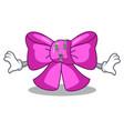 money eye gift bow tie isolated on cartoon vector image