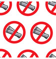 no smoking sign singapore rules seamless pattern vector image vector image