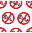no smoking sign singapore rules seamless pattern vector image