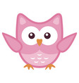 owl stylized art icon in pink colors vector image vector image