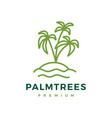 palm tree logo icon vector image vector image