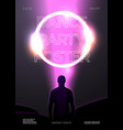 poster design template in futurism style vector image