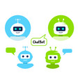 robot icon set chat bot sign design chat bot vector image
