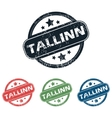 Round Tallinn city stamp set vector image vector image