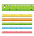rulers in centimeters inches vector image vector image