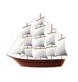 sail ship isolated vector image vector image