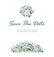 save the date card with white rose flowers and vector image vector image