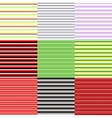 set of horizontal patterns vector image vector image