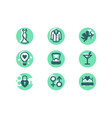 set wedding icons with diamond wedding ring suit vector image