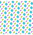 shopping icons seamless pattern colorful gift box vector image