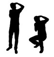silhouette of people taking pictures vector image
