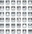silver icons 2 vector image