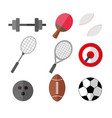 simple flat style sport eqipments graphic set vector image vector image